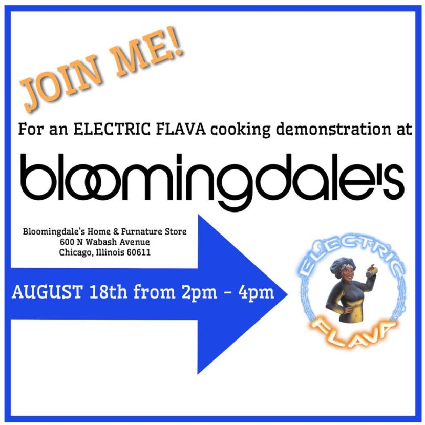 Electric Flava cooking demonstrations at Bloomingdale's - 8/18