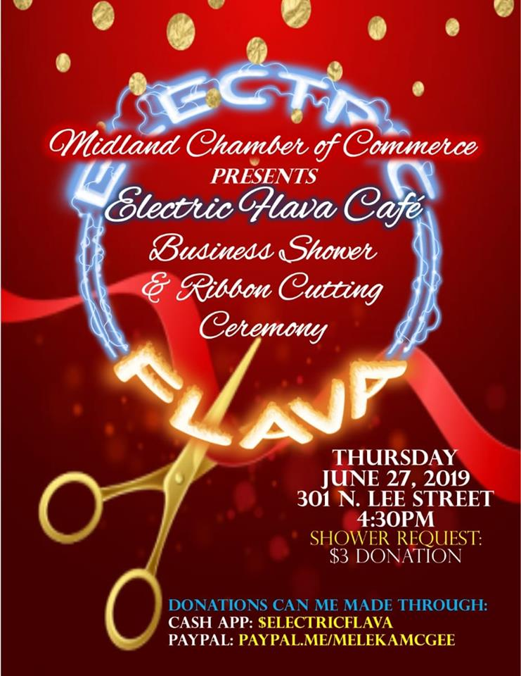 The Electric Flava Cafe Business Shower & Ribbon Cutting Ceremony - 6/27